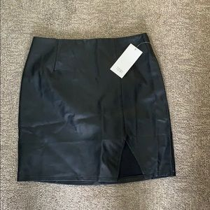 Black Leather Skirt from Tobi